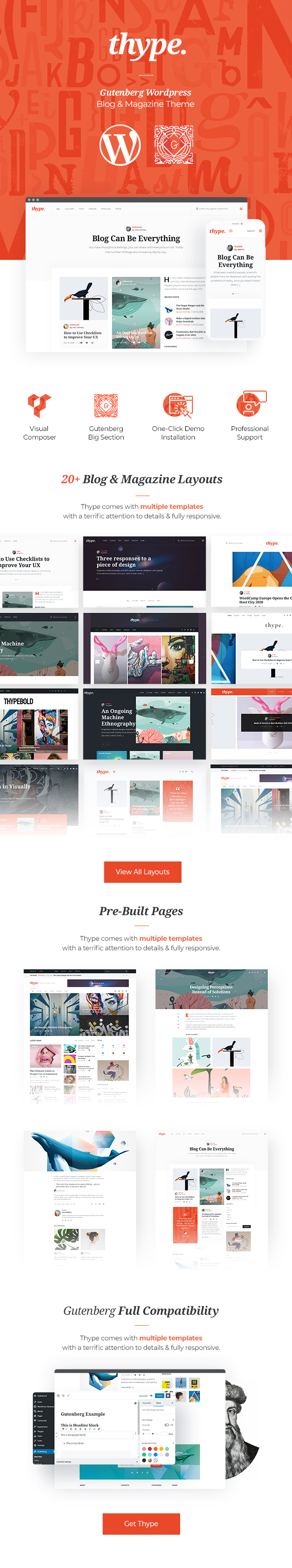 Thype | Gutenberg WordPress Blog & Magazine Theme - 1