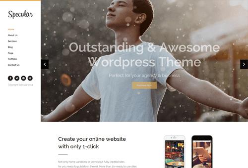Specular Left Nav WordPress Theme