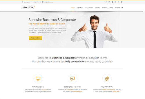 Specular Clean WordPress Theme
