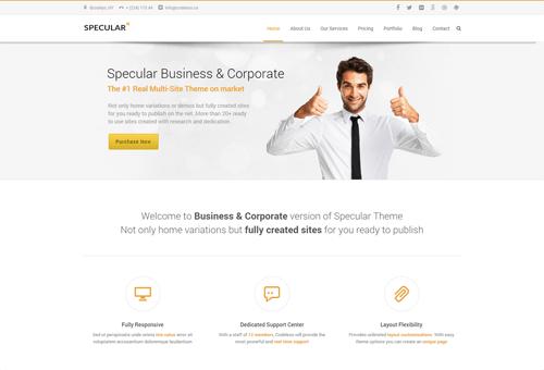 Specular Clean WordPress Theme