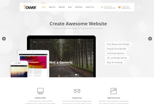 Tower Business WordPress Theme