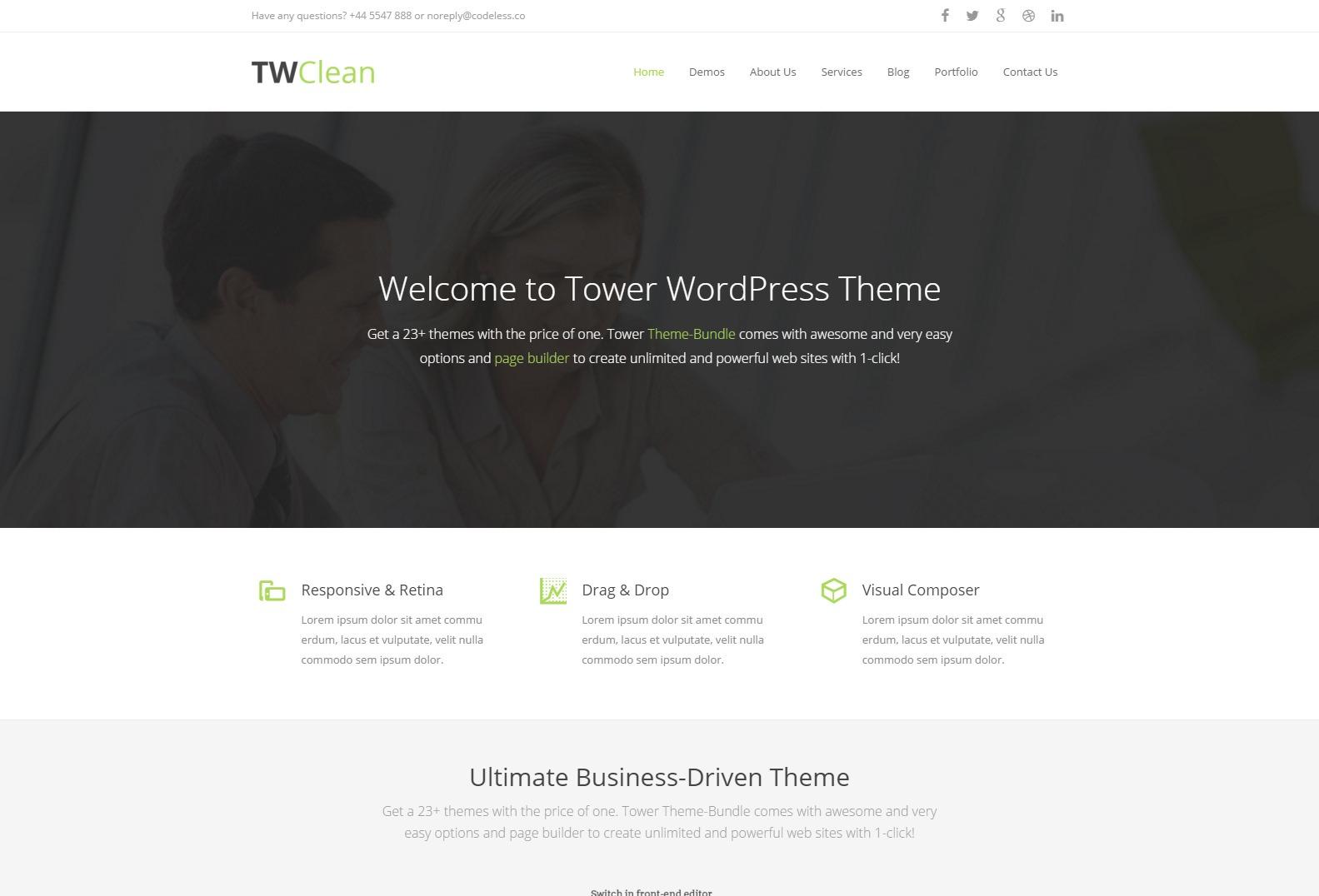 Tower Clean WordPress Theme