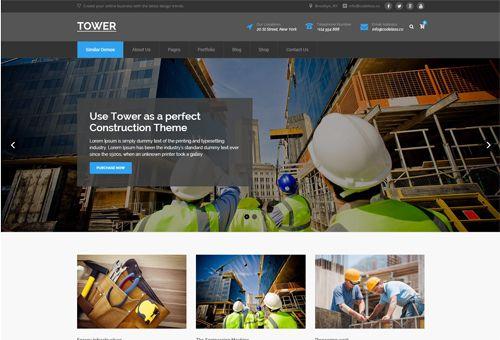 Tower Construction WordPress Theme