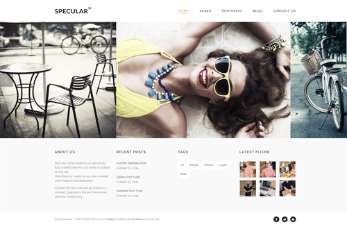 Specular Gallery WordPress Theme