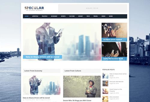 Specular Magazine WordPress Theme
