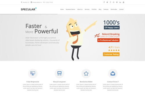 Specular Present WordPress Theme