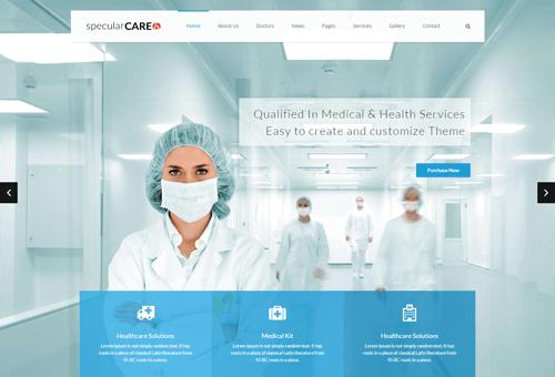 Specular Medicine WordPress Theme