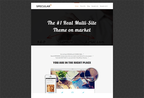 Specular Marketing WordPress Theme