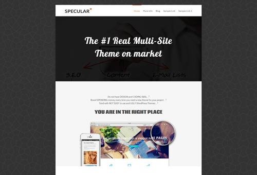 Specular Marketing WordPress Theme