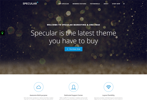 Specular OnePage WordPress Theme