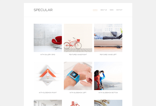 Specular Portfolio WordPress Theme