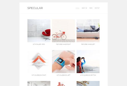 Specular Portfolio WordPress Theme