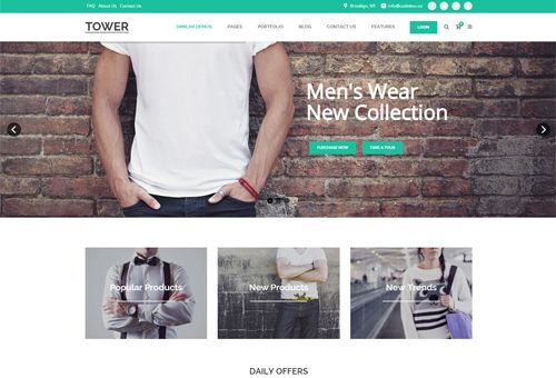 Tower Shop WordPress Theme