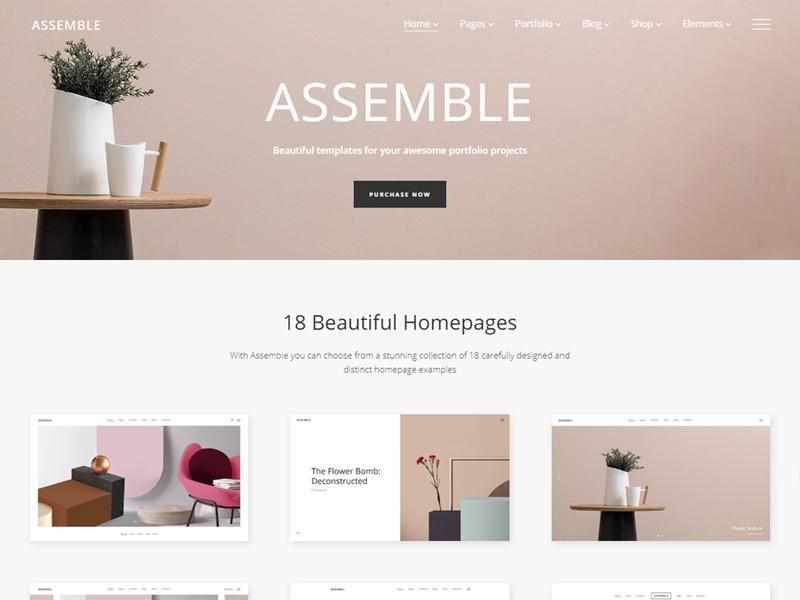 Assemble WordPress Portfolio