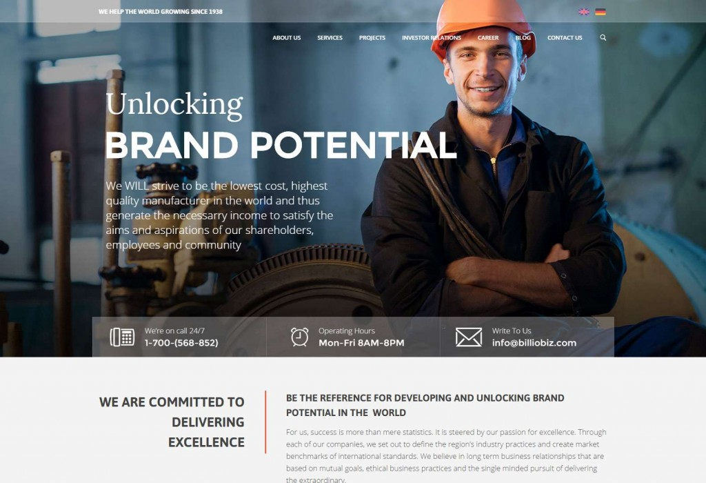 Manufacturing — Billio Mega Company WordPress Theme Mega Companies WordPress Theme site-compressed