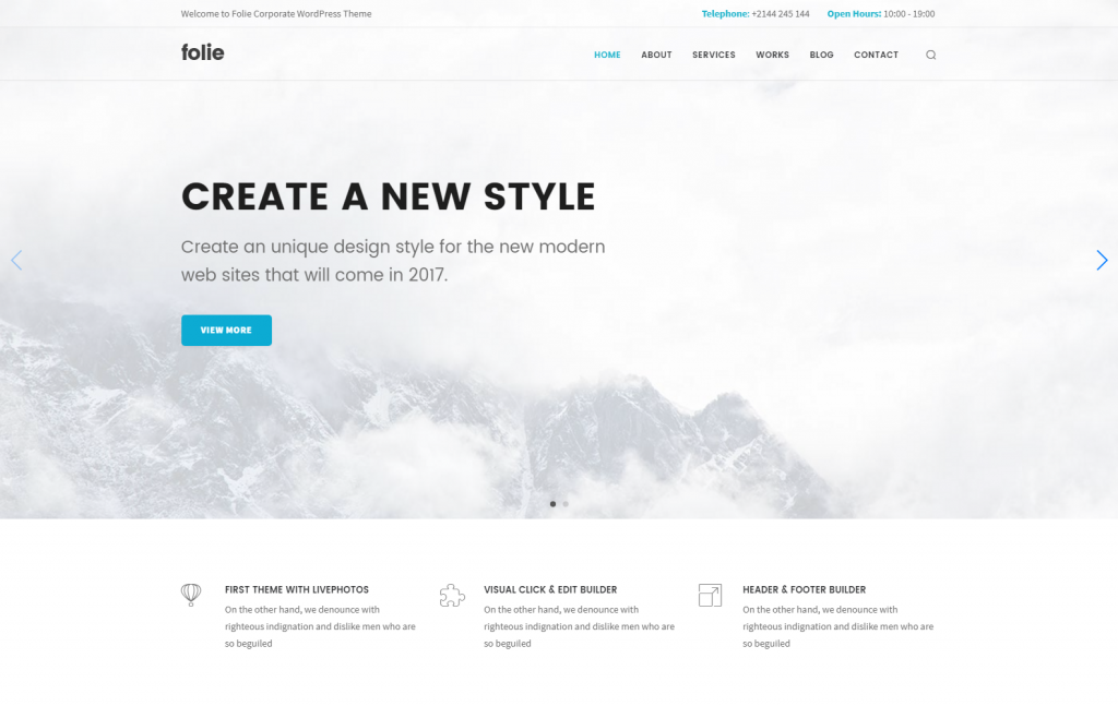 Folie – Corporate Business WP Template – Just another WordPress site