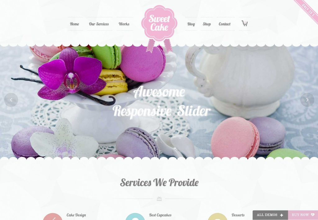 Cake Sweet Cake WP Theme-compressed