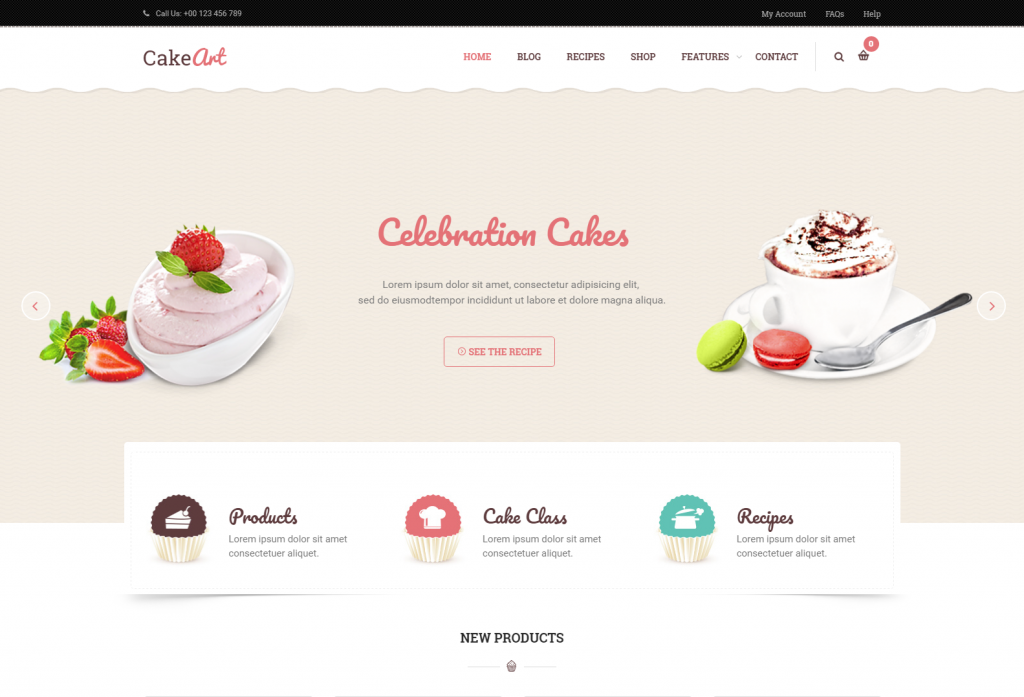 CakeArt – Bakery Cake WordPress Theme