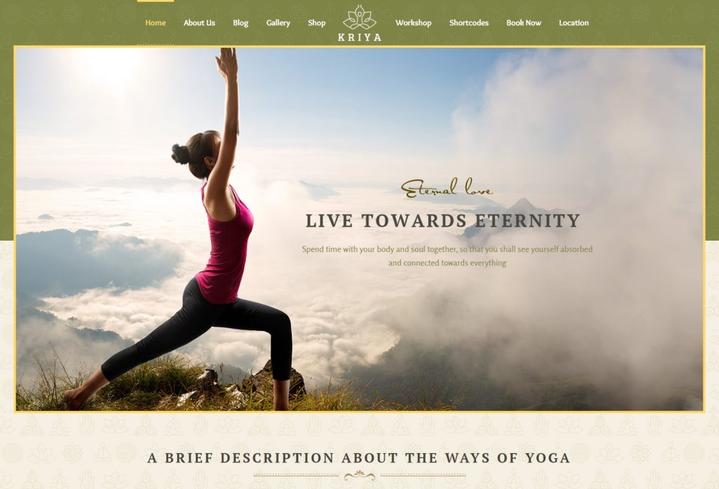 Kriya wordpress theme for yoga meditation-compressed