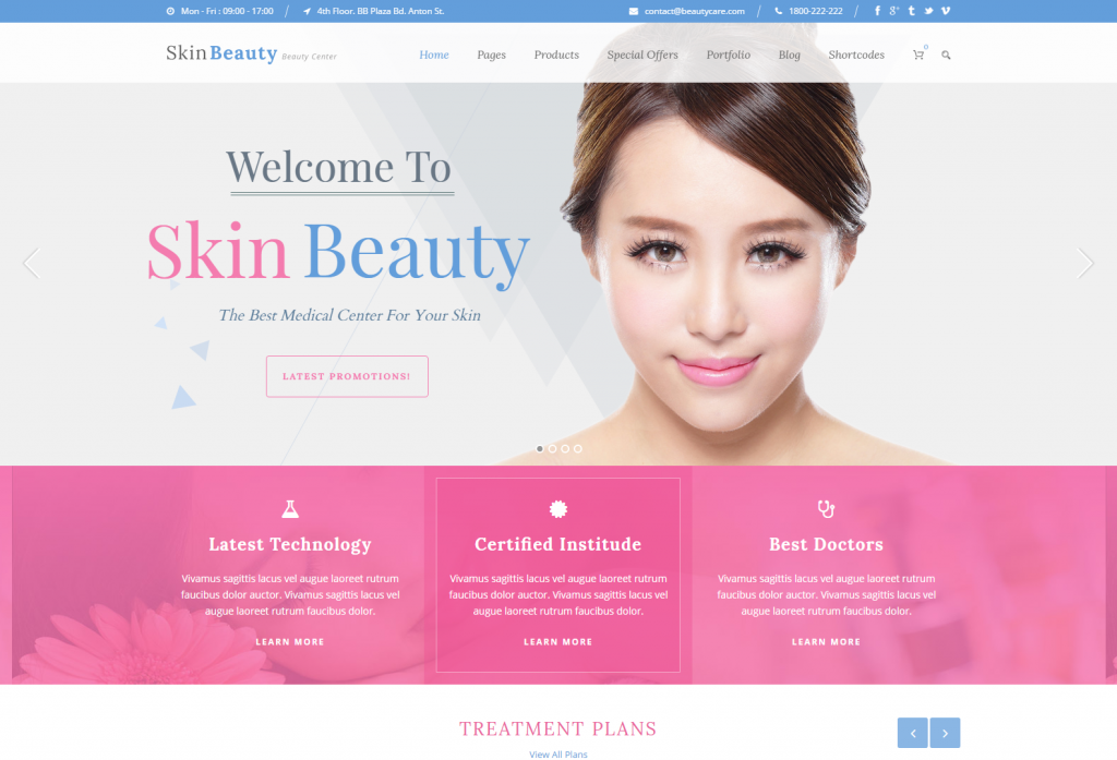 Skin Beauty – WordPress Theme For Spa Beauty