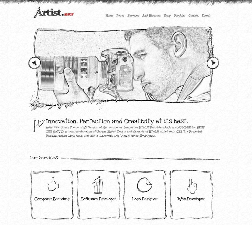 wordpress artist theme