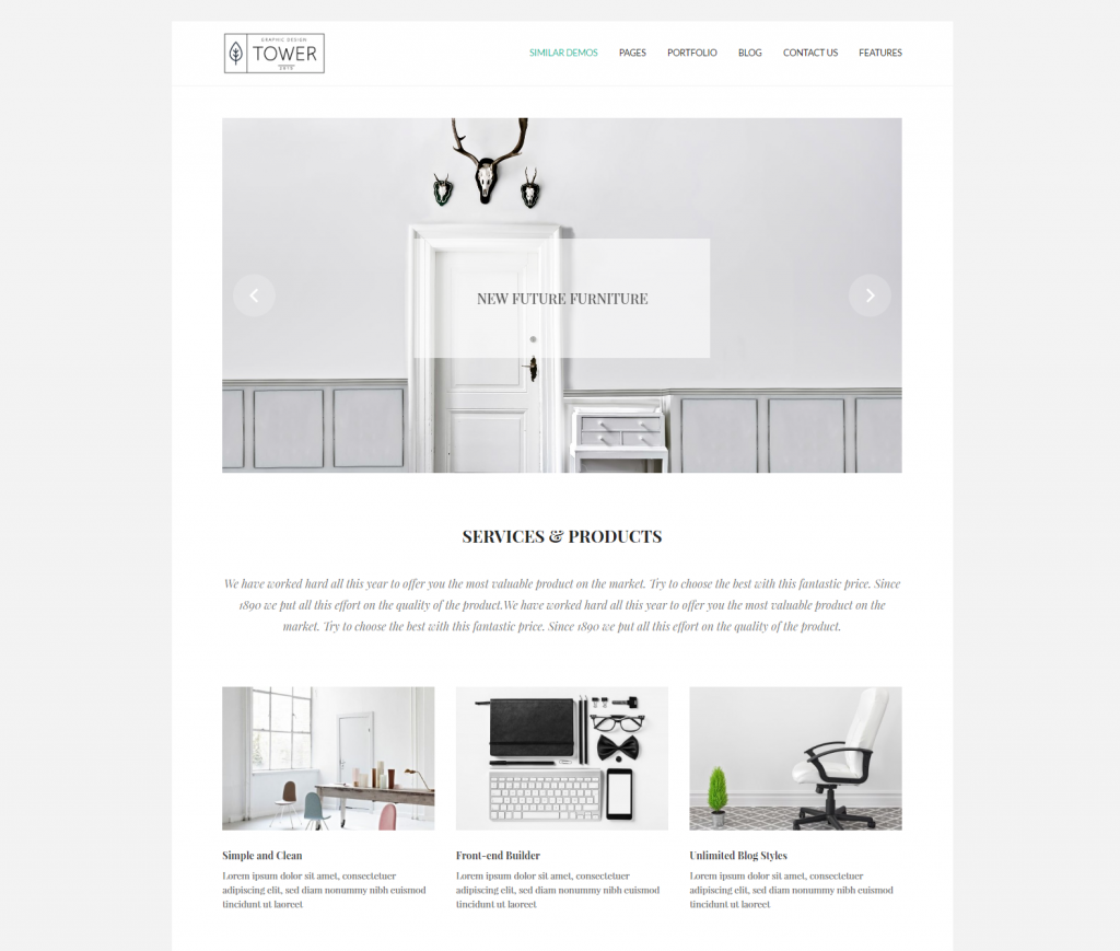 Tower – Minimal Multi Concept WordPress Theme Just another WordPress site