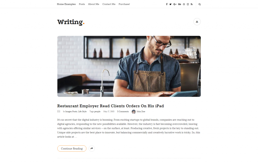 Writing – Just another WordPress site
