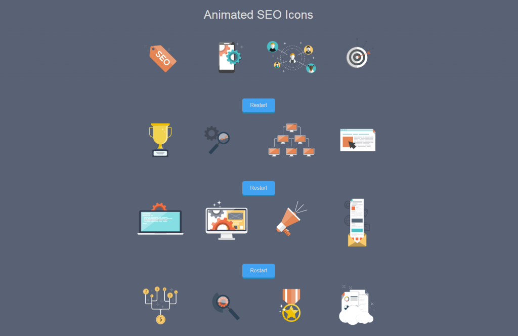 Animated SVG SEO Icons