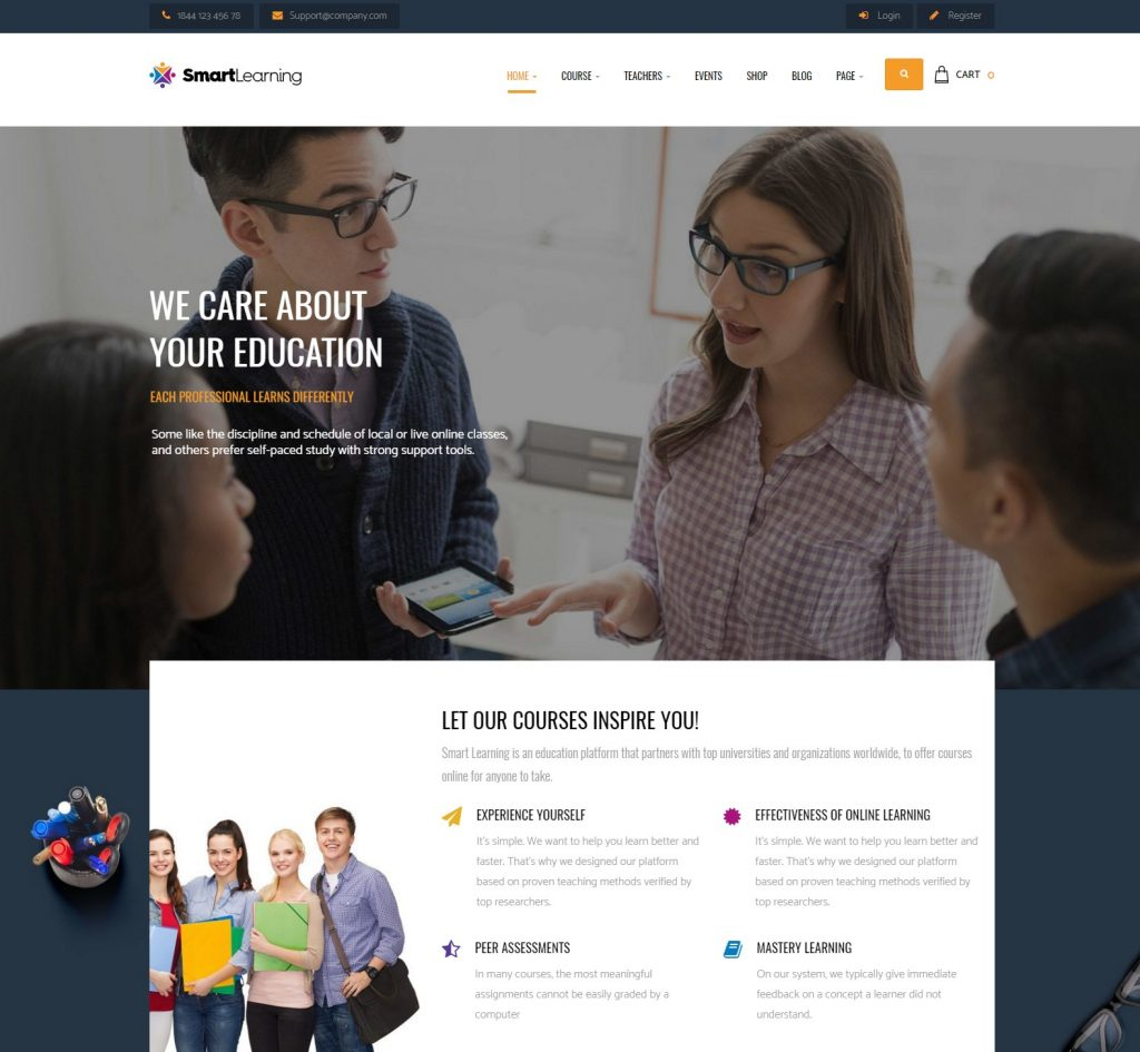 15+ Professional e-Learning (LMS) WordPress Themes - Premium ...
