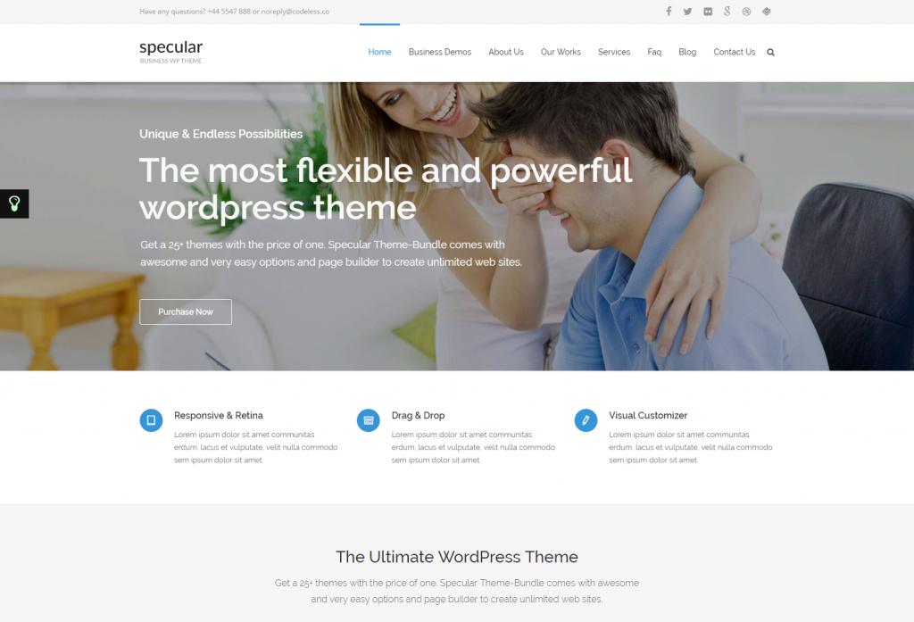 Specular Multipurpose WordPress Bundle Theme – Business Just another WordPress site