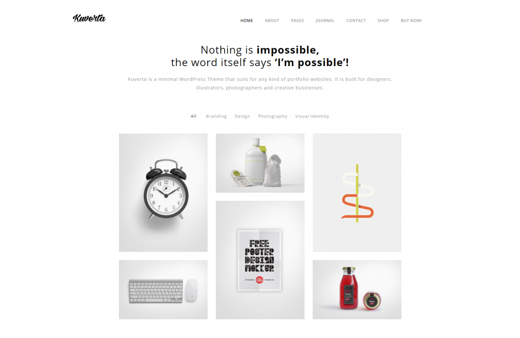 Kuverta – Minimal Portfolio WordPress Theme – Just another WordPress site