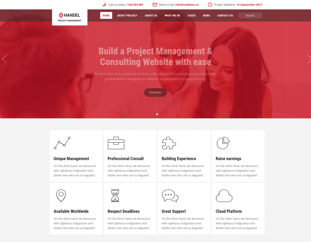 Handel Business WordPress Theme