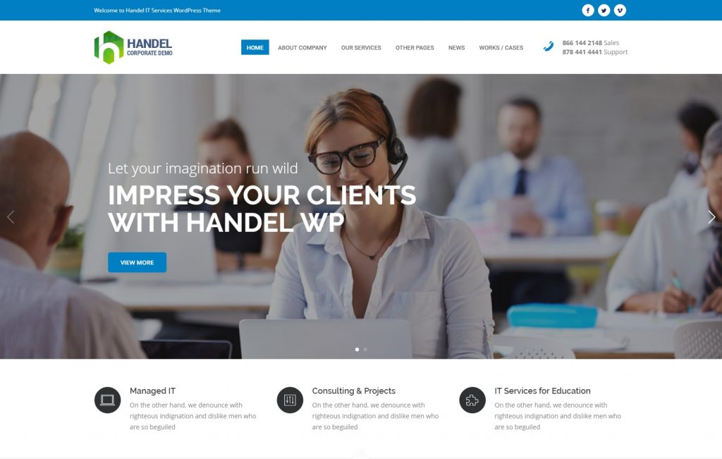 Handel IT Services – Responsive Multi Purpose Business WordPress Theme – Just another WordPress site-compressed