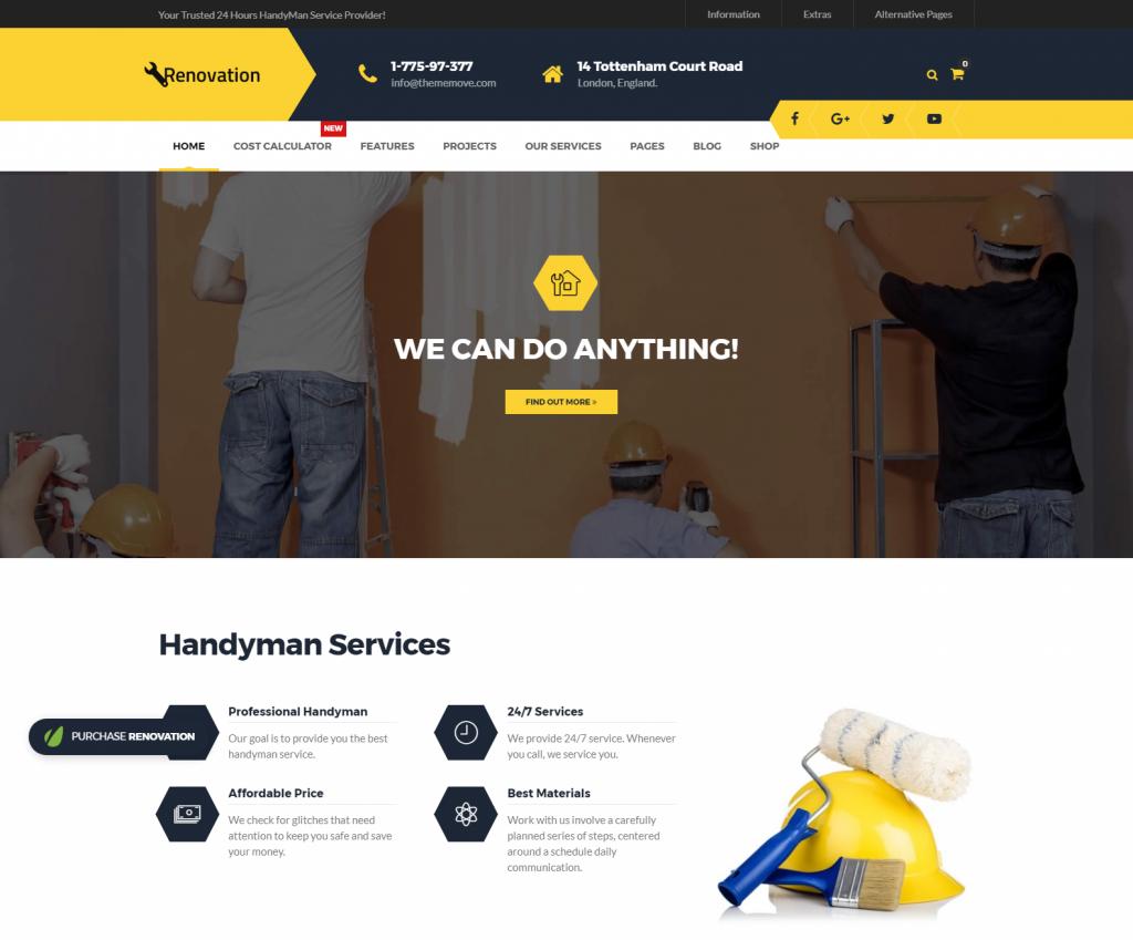 Renovation Home Maintenance Repair Service WP Theme – Home Maintenance Repair Service WP Theme