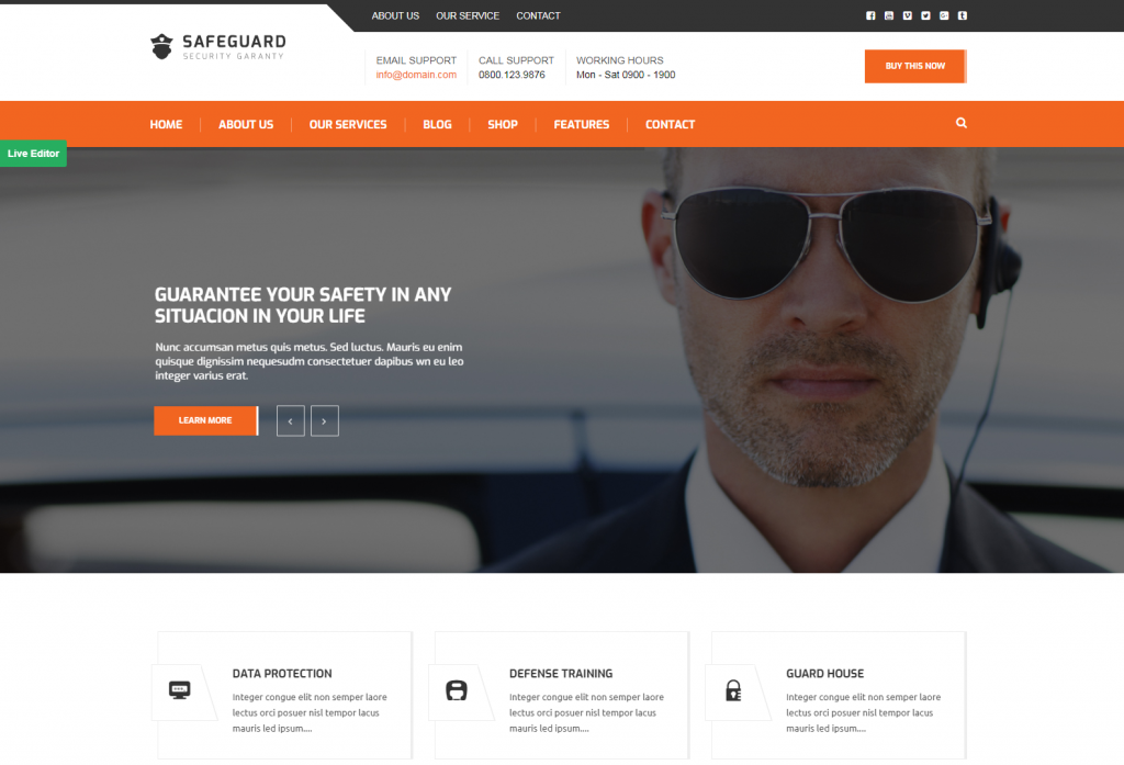 safeguard – Security Services WordPress theme