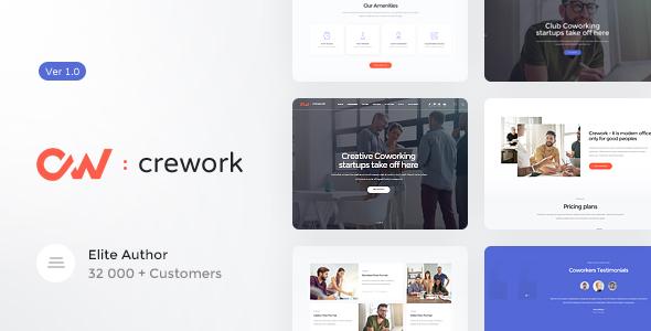 Crework - Coworking and Creative Space WordPress Theme