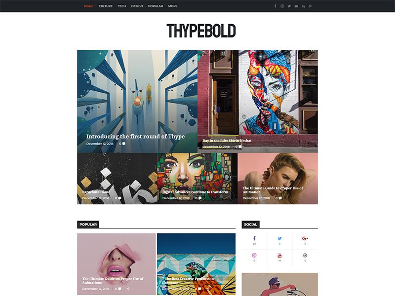 Thype - Multi-Concept Blog & Magazine WordPress Theme