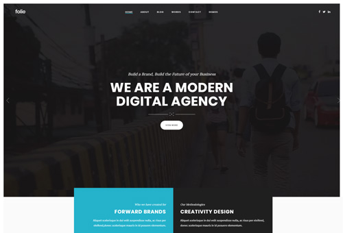 Folie Creative Agency WordPress Theme