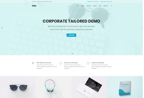 Folie Corporate WordPress Theme