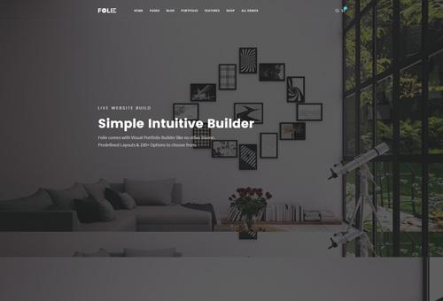 Folie Parallax WordPress Theme