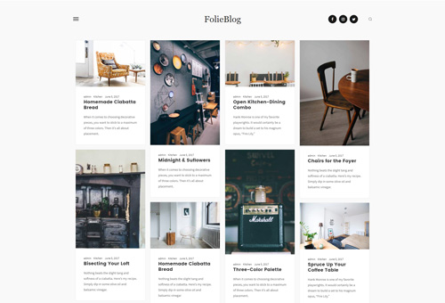 Folie Blog Minimal WordPress Theme