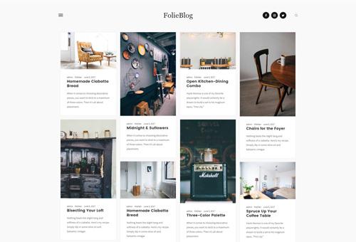 Folie Blog Minimal WordPress Theme