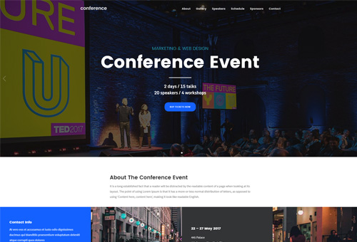 Folie Conference WordPress Theme