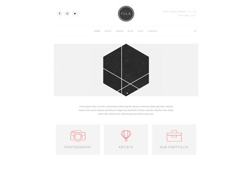Folie Minimal WordPress Theme