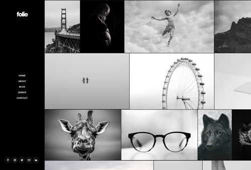 Folie Photography Dark WordPress Theme