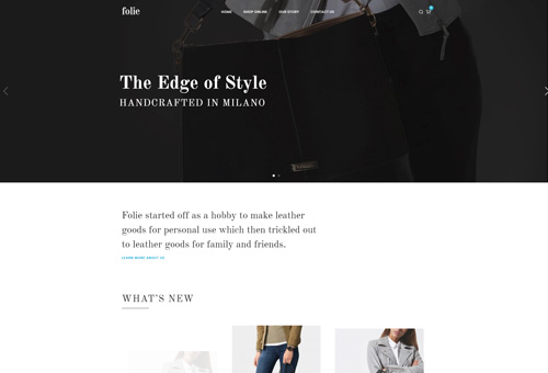 Folie Shop Classic WordPress Theme
