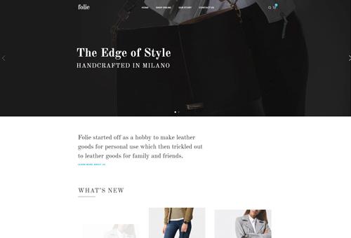 Folie Shop Classic WordPress Theme