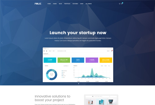 Folie Startup WordPress Theme