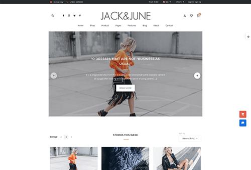 June Blog 2 WordPress Theme