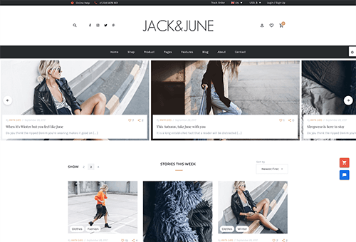 June Blog 1 WordPress Theme